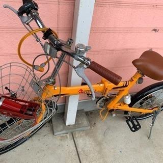 折りたたみ自転車(お話中)