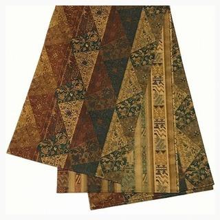 特選 極上 西陣織り 両面違い柄 美品 袋帯 縞 きりばめ更紗 ...