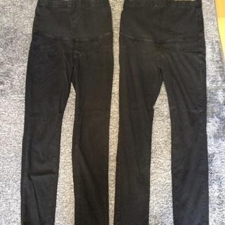 マタニティパンツ(M)黒2本セット