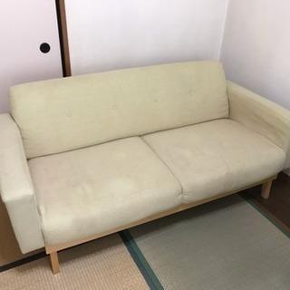 引取先決定 ①引越 2人掛けソファー 引き取り限定