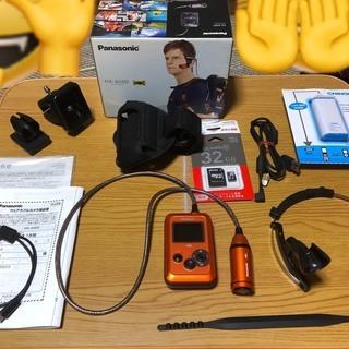 【中古】Panasonic ウェアラブルカメラ オレンジ HX-...