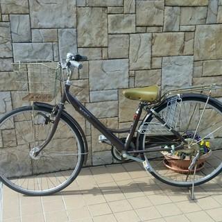 自転車 27インチ サイクル 軽快車 通勤通学 子供乗せ ママチャリ