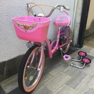子供用 自転車 サイズ18インチ ディズニープリンセス