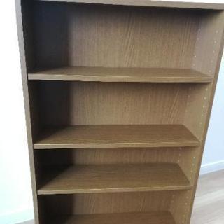 軽量木製本棚 家具スベール付 段幅変更可能 カラーボックス 2/...