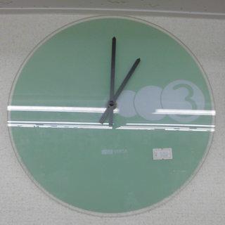 掛け 柱時計 ガラスグリーン ウォールクロック 25cm ペイペ...