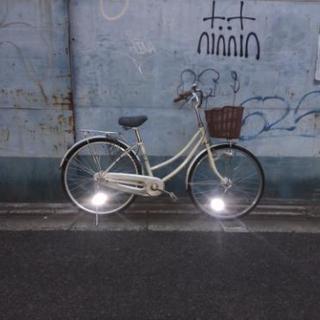 マルキン 自転車 ママチャリ オートライト 直接引取のみ
