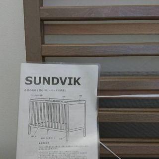 IKEA ベビーベッド sundvik マットレス、シーツ、防水シ...