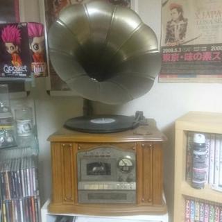 蓄音機型 レコード CDプレイヤー
