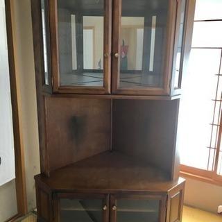 【今週末!】コーナーテレビ台(飾り棚付) 中の食器とテレビは含まず!