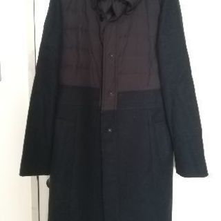 セーヌドゥー ウール ダウン 切り替え 異素材 コート