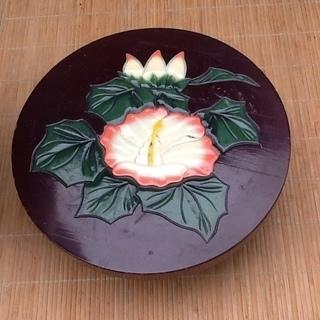 【珍品三千円】中国で買ってきた大きな壺、花瓶と木製の台 素敵に飾ってください 配達も可 - その他