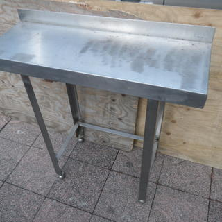 厨房 ステンレス 作業台  調理台 バックガードあり 幅90×奥行...