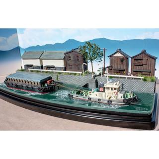 Nゲージ 蔵と運河と運搬船 ジオラマ完成品 模型 ジオコレ