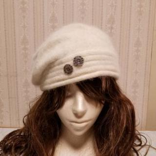 中古品 白い帽子