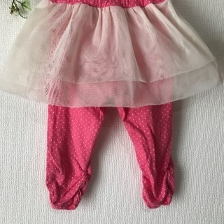チュールスカッツ スパッツスカート 95 水玉ピンク