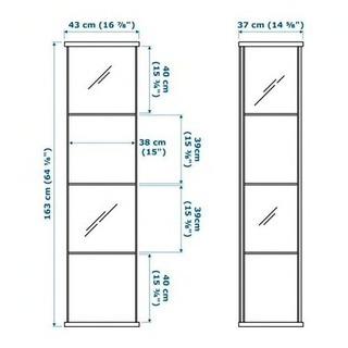 IKEA ガラスコレクションケース - 家具