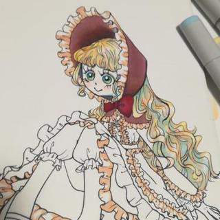 色紙にイラスト描きます