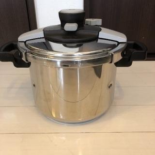 中古 ティファール 圧力鍋 クリプソ 6リットル