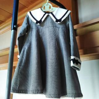入学式で着用、110サイズワンピース