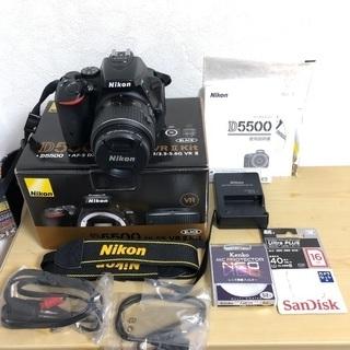 ニコン Nikon D5500 レンズキット★SDカード、ガイド本付き