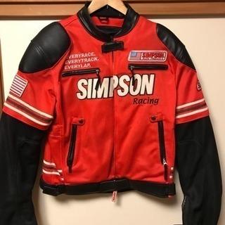SIMPSONライダースジャケット  Lサイズ