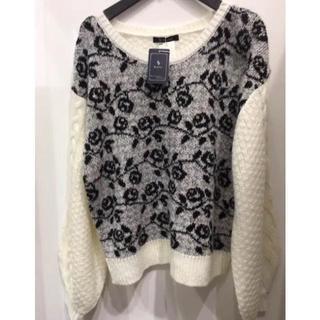 新品 バラ 花柄 セーター ニット