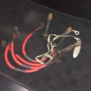 ロードスターに使っていたプラグコード赤色