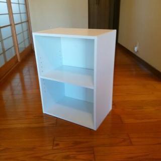 カラーボックス 二段 ホワイト