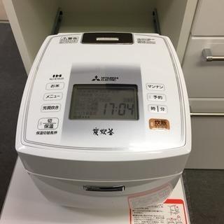 【三菱】IHジャー炊飯器 5.5合 NJ-E10J3-W 2014年製