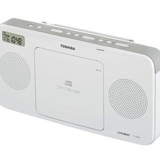CDラジカセ(ホワイト)東芝 CDラジオ TY−CR20