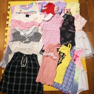 17着女の子洋服まとめ売り夏物半袖Tシャツノースリーブキャ…