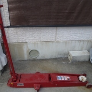 引取限定 マサダ製作所 3トン フロアジャッキ 低床足踏みペダル...