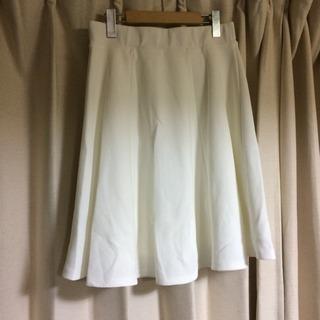 未使用 ホワイト スカート