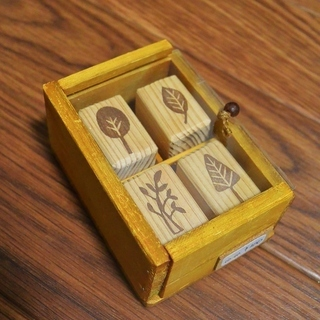 ●手作り 消しゴムはんこ 木箱入りセット(4種類)