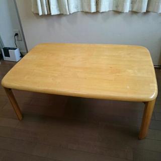 木目調 テーブル  脚は折り畳み式です