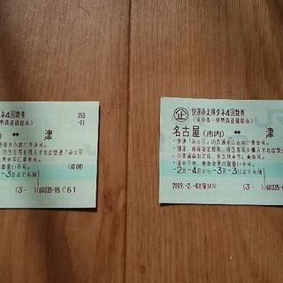 津 名古屋 JR 往復切符