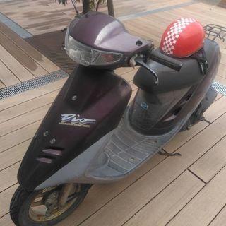 原付きバイク(ホンダディオ)ヘルメット付