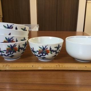 少し小さめの湯のみ茶碗5個