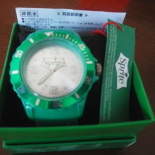 スプライト(緑) オシャレな腕時計♪