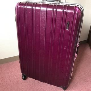 旅行に 大型スーツケース キャリーバック トランク ボルドー色