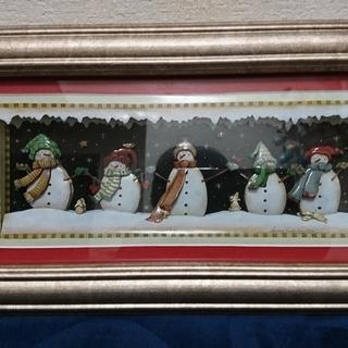シャドウボックス (3Dアート) 「雪だるま」