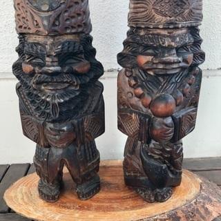 無料 木彫り ニポポ人形です。