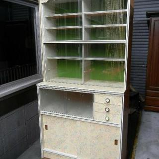 昭和 レトロポップ 食器棚 水屋 キャビネット 飾り棚