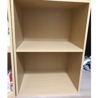 2段カラーボックス