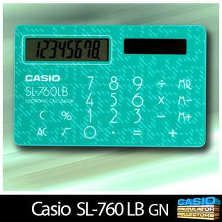 カードサイズ ソーラー電卓 CASIO SL-760LB