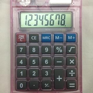 カバー付き小型ソーラー電卓