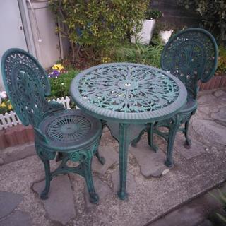 アンティーク調ガーデンテーブルセットキャンセル出ました