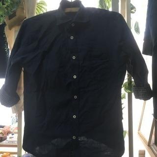 TAKAQ タカキュー シャツ ジャケット ネイビー