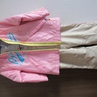 女の子 スキーウェア ジュニア 100サイズ ピンク 上下セット