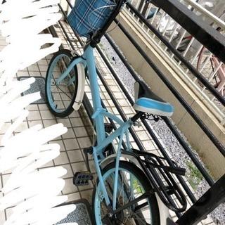 折りたたみ自転車.カゴ付き.20インチ.超軽量